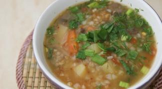 """Гречневый суп """"витаминный"""""""