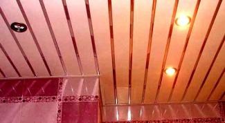 Как установить реечный потолок
