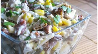 Как приготовить овощной салат с курицей