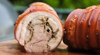 Мясной рулет в свиной шкурке - альтернатива колбасе