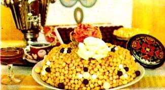 Как приготовить Чэк-чэк (орешки с медом)