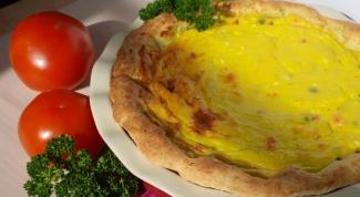 Как приготовить овощной пирог с творожной заливкой