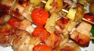Шашлычки из свинины в духовке