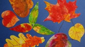 Как нарисовать осенний лист