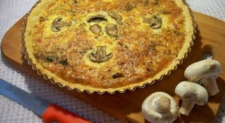Как приготовить пирог с грибами и сыром