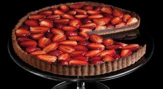 Клубнично-шоколадный тарт