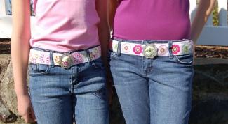 Как подобрать ремень к джинсам