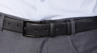 How to pick up a belt to the pants