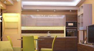 Как перенести кухню в зал