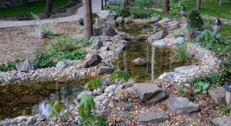 How to lay a stone bottom pond