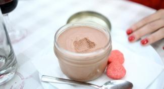 Шоколадный мусс с маршмеллоу