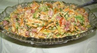 Как приготовить салат на скорую руку