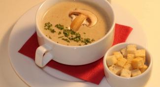 Крем-суп из шампиньонов - нестандартное блюдо к вашему столу