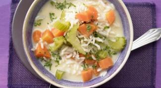 Греческий рисовый суп