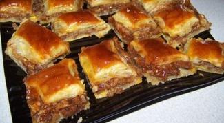 Как готовится пахлава (армянская)