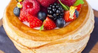 Волованы с ягодами