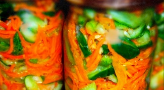 Готовим огурцы с корейской морковью