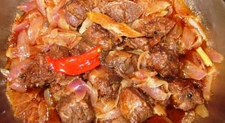 Стифадо из говядины