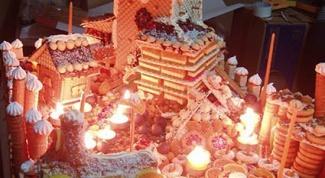Как приготовить торт в виде города