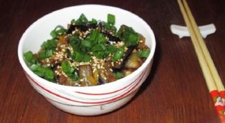 Остро-сладкие баклажаны по-китайски