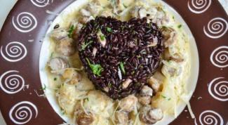 Черный рис с каракатицами