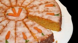 Морковный торт с овсяными хлопьями
