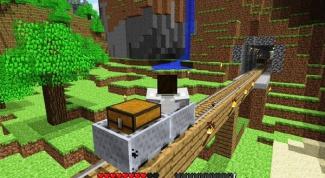 Как соединять вагонетки в minecraft