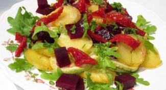 Как приготовить теплый салат с вялеными помидорами