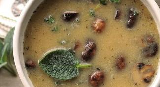 Бобово-грибной суп