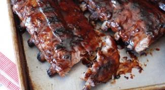 Как приготовить ребрышки под соусом из вишневой колы