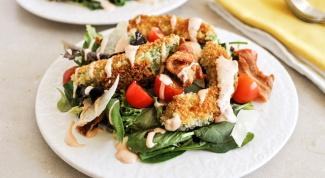Салат с хрустящими авокадо