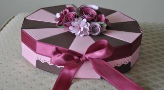 Как сделать торт-сюрприз из бумаги