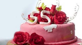 Что включить в меню на юбилей 55 лет