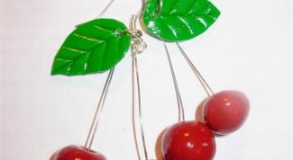 Как сделать сережки-вишенки из пластики
