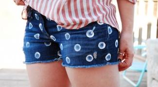 Как сшить джинсовые шорты