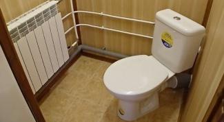 Как обшить туалет