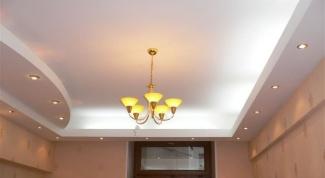 Как крепить свет в натяжном потолке