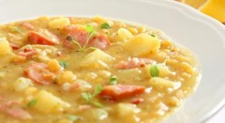 Готовим сытный гороховый суп с копчёностями