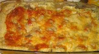 Пельмени, запеченные с сыром в духовке