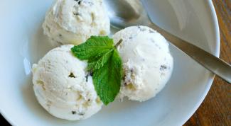 Шоколадное и мятное мороженое
