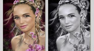 Как сделать цветные фотографии черно-белыми