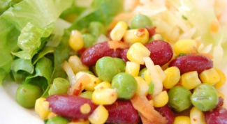 Simple salads with canned corn