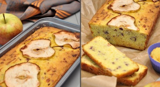 Яблочно-кукурузный кекс с сыром