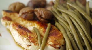 Как приготовить стручковую фасоль с грецким орехом