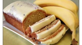 Карамельный кекс с бананом