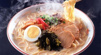 A recipe of ramen with pork