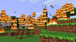 Как сделать огонь в Minecraft