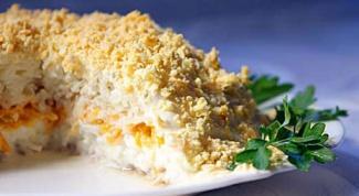 Салат мимоза с рисом: рецепт приготовления