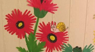 Изделия из бумаги для детей: ладошковые аппликации