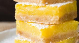 Как приготовить пирожное с лимонной начинкой